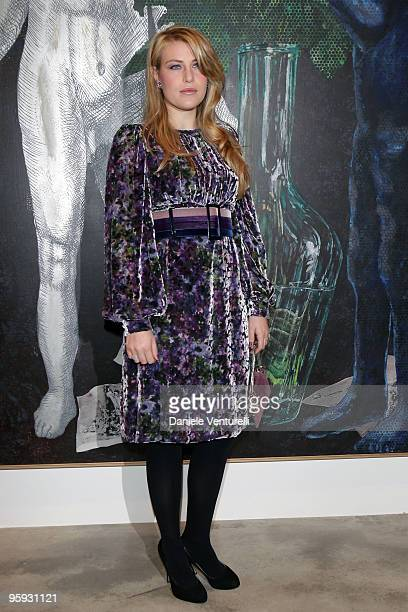 Barbara Berlusconi attends the Jorg Immendorff show at the Cardi Black Box Gallery on January 21 2010 in Milan Italy