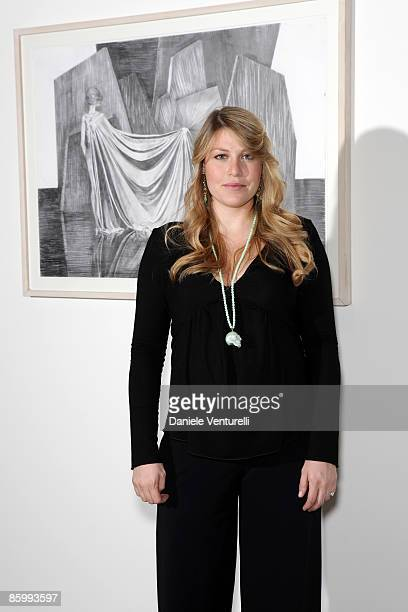 Barbara Berlusconi attends the Michal Helfman opening exhibition at the Cardi Black Box on April 15 2009 in Milan 2009