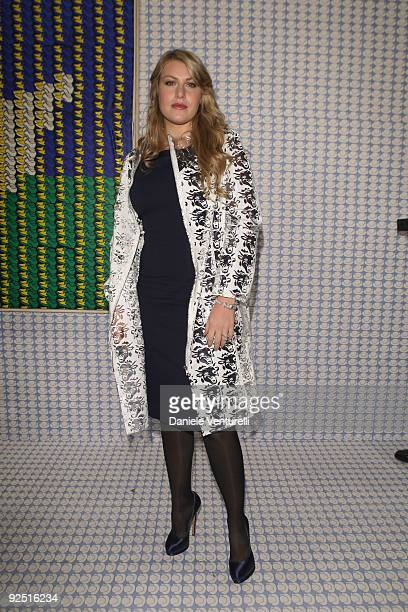 Barbara Berlusconi attends the Thomas Bayrle preview at the Cardi Black Box Gallery on October 29 2009 in Milan Italy