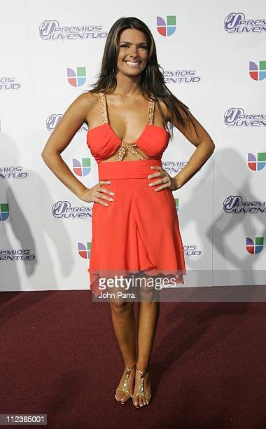 Barbara Bermudez during 2005 Premios de la Juventud - Arrivals at University of Miami in Coral Gables, Florida, United States.
