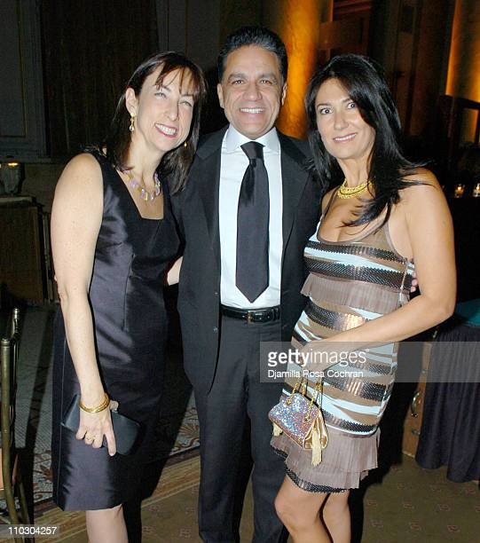 Barbara Bigio Joseph Moinian and Nazee Moinian during WIZO Casino Night February 3 2007 at Capitale in New York City New York United States
