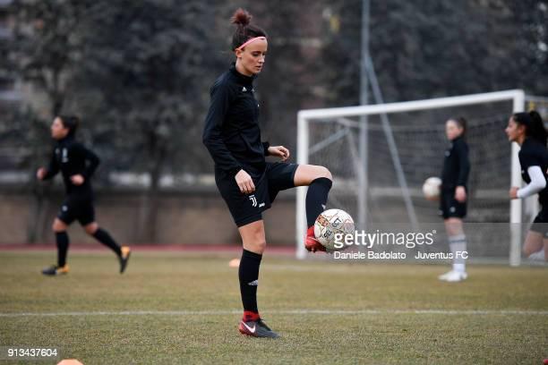 Barbara Bonansea during a Juventus Women training session on February 2 2018 in Turin Italy