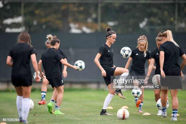 Barbara Bonansea during a Juventus Women training session on October 4 2017 in Turin Italy