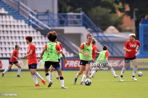 Barbara Bonansea in action during an Italy Women Training Session on May 28 2019 in Ferrara Italy