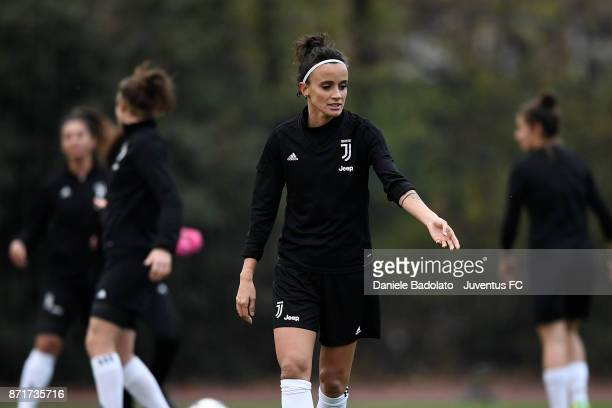 Barbara Bonansea in action during the Juventus women training session on November 8 2017 in Turin Italy