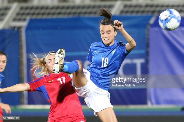 Barbara Bonansea of Italy in action during the 2019 FIFA Women's World Cup Qualifier between Italy Women and Moldova Women at Stadio Alberto Picco on...