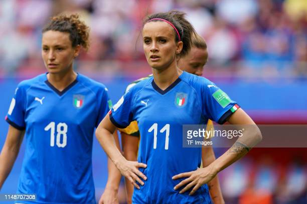 Barbara Bonansea of Italy looks on during the 2019 FIFA Women's World Cup France group C match between Australia and Italy at Stade du Hainaut on...