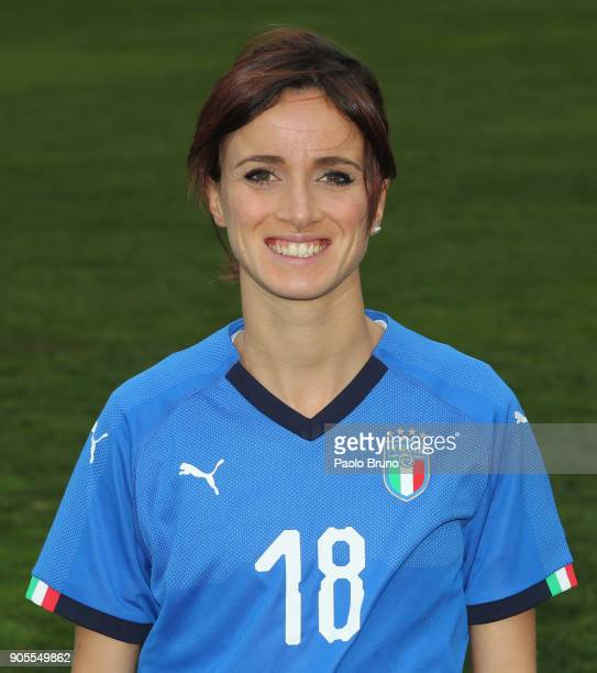 Barbara Bonansea of Italy poses during the Italy women portrait session on January 16 2018 in Rome Italy