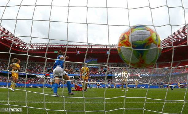Barbara Bonansea of Italy scores however it is disallowed for offside following a VAR check during the 2019 FIFA Women's World Cup France group C...