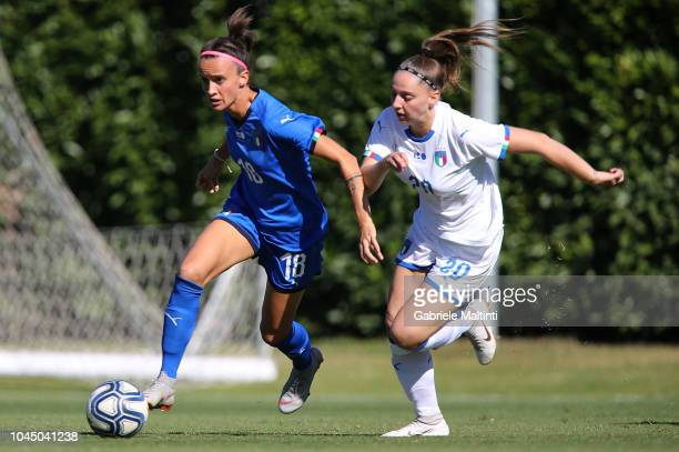 Barbara Bonansea of Italy Womens in action against Alice Regazzoli of Italy U23 during the match between Italy Women and Italy U23 Women at Centro...