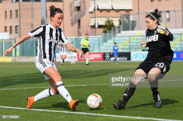 Barbara Bonansea of Juventus Women scores the 05 goal during the serie A match between Sassuolo Femminile and Juventus Women at Enzo Ricci Stadium on...