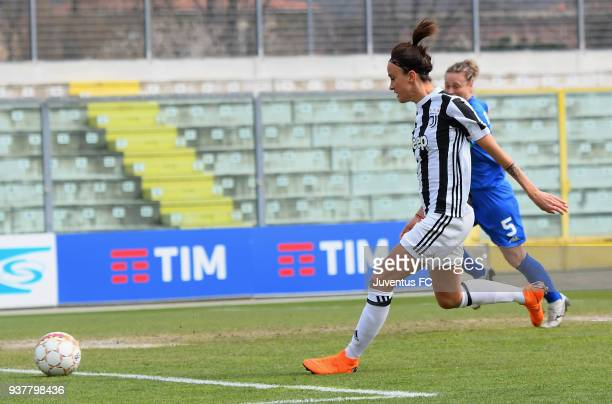 Barbara Bonansea of Juventus Women scores the opening goal during the serie A match between Sassuolo Femminile and Juventus Women at Enzo Ricci...