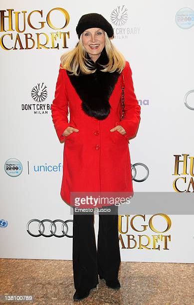 Barbara Bouchet attends the 'Hugo Cabret' premiere at Embassy Cinema on February 2 2012 in Rome Italy