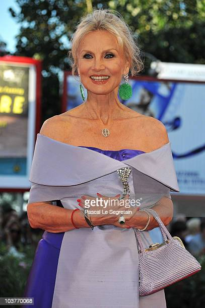 Barbara Bouchet attends the Opening Ceremony and Black Swan premiere during the 67th Venice Film Festival at the Sala Grande Palazzo Del Cinema on...