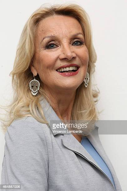 Barbara Bouchet attends the 'Quelli Che Il Calcio' Tv Show on March 1 2015 in Milan Italy