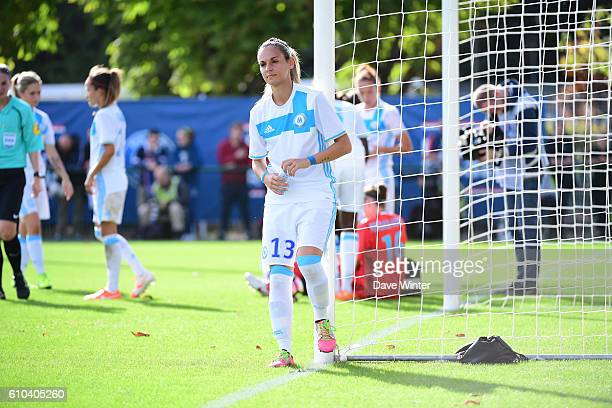 Barbara Bouchet of Marseille during the women's French D1 league match between PSG and Olympique de Marseille at Camp des Loges on September 25 2016...