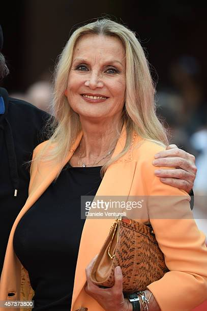 Barbara Bouchet On The Red Carpet during the 9th Rome Film Festival on October 17 2014 in Rome Italy