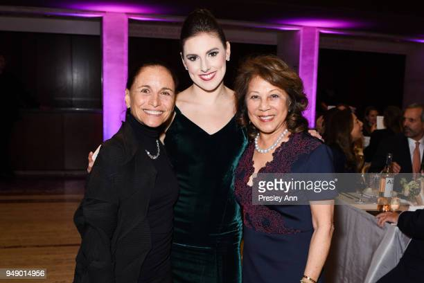 Barbara Brandt Tiler Peck and Irene Shen attend YAGP Stars of Today Meet The Stars of Tomorrow 2018 Gala on April 19 2018 in New York City