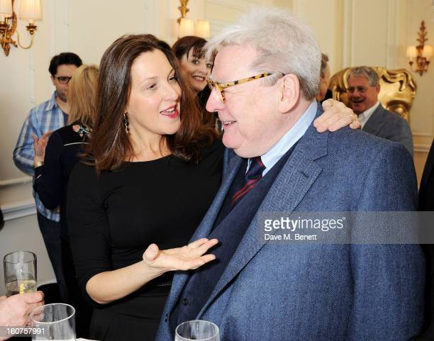 Barbara Broccoli and Sir Alan Parker attend a drinks reception awarding Sir Alan Parker the BAFTA Fellowship supported by Hackett at The Savoy Hotel...