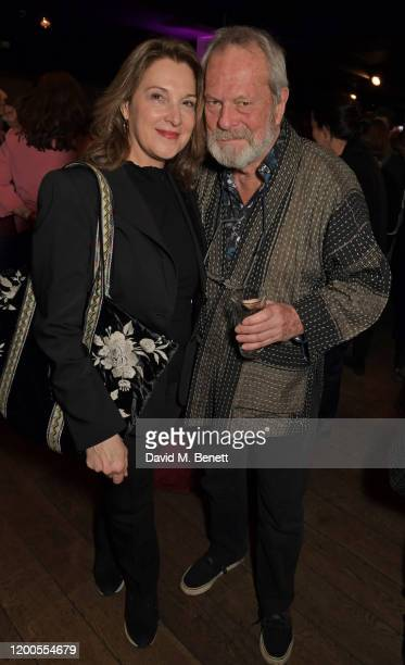 Barbara Broccoli and Terry Gilliam attend a drinks reception celebrating Amanda Nevill as she departs her role as CEO of the British Film Institute...