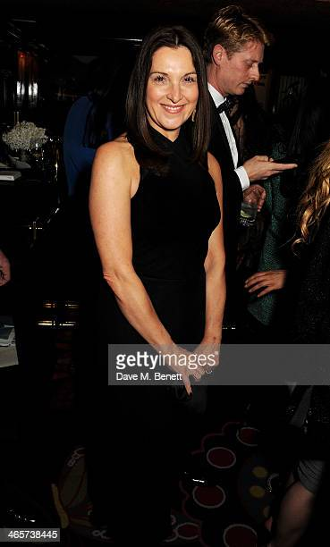 Barbara Broccoli attends the Charles Finch and Chanel PreBAFTA cocktail party and dinner at Annabel's on February 8 2013 in London England