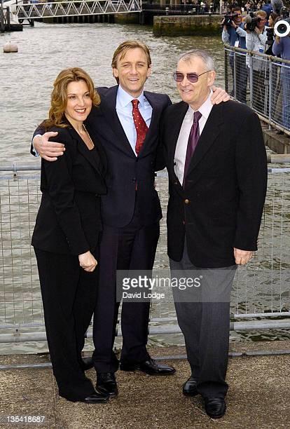 Barbara Broccoli Daniel Craig and Michael G Wilson