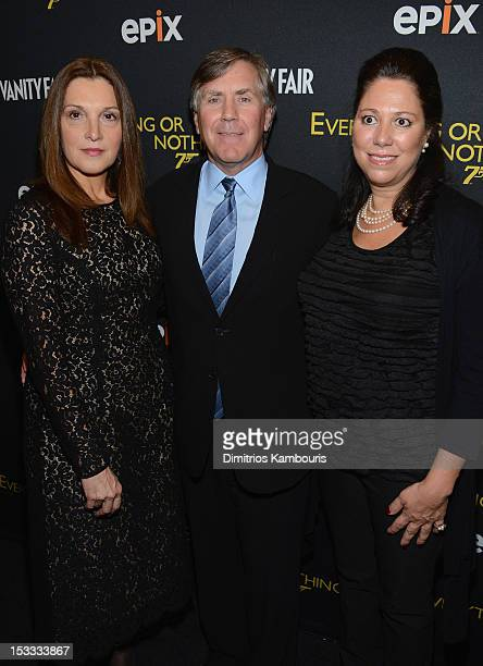 Barbara Broccoli EPIX CEO Mark Greenberg and Hillary Saltzman attend EPIX Presents the Premiere screening of Everything or Nothing The Untold Story...