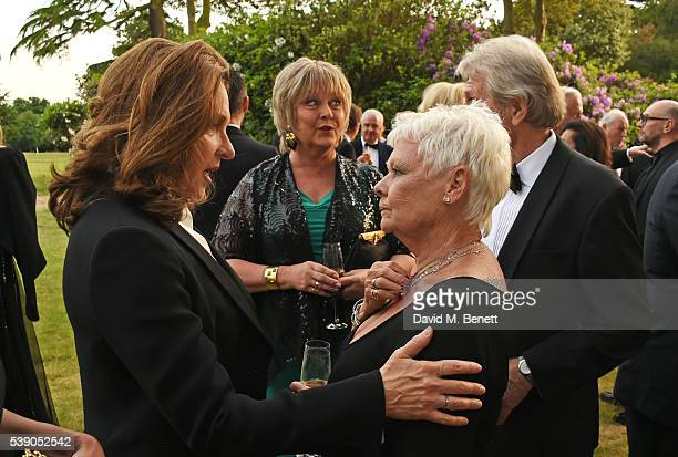 Barbara Broccoli Jenny Hanley Dame Judi Dench and David Mills attend the Duke of Edinburgh Award 60th Anniversary Diamonds are Forever Gala at Stoke...