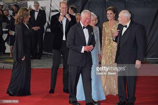 Barbara Broccoli, Prince William, Duke of Cambridge,, The Lord-Lieutenant of Greater London, Sir Kenneth Olisa, Charles, Prince of Wales, Camilla,...