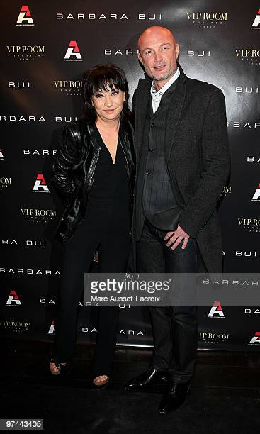 Barbara Bui and Franck Leboeuf attend the Barbara Bui Party at VIP Room Theatre on March 4 2010 in Paris France