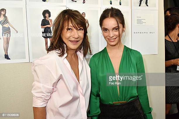 Barbara Bui and Lola Le Lann attend the Barbara Bui show as part of the Paris Fashion Week Womenswear Spring/Summer 2017 on September 29 2016 in...