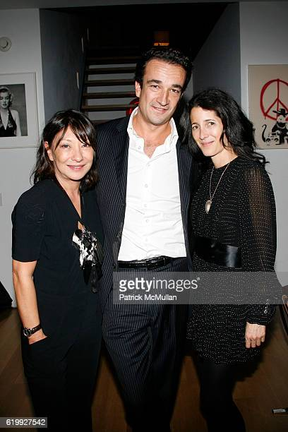 Barbara Bui Olivier Sarkozy and Amanda Ross attend CHARLOTTE SARKOZY hosts cocktails in honor of BARBARA BUI at Private Residence on October 30 2008...