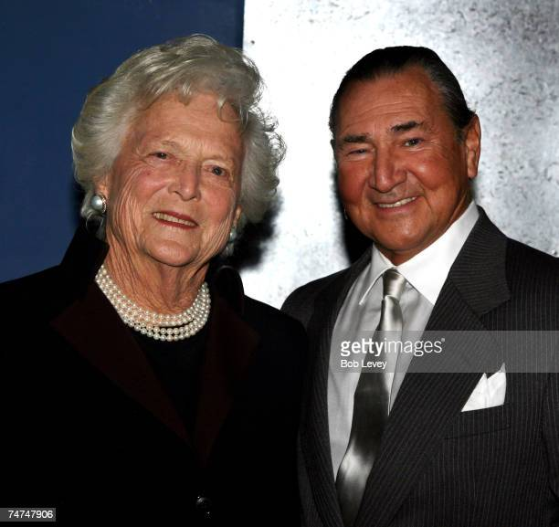Barbara Bush and August Schellenberg at the in Houston Texas