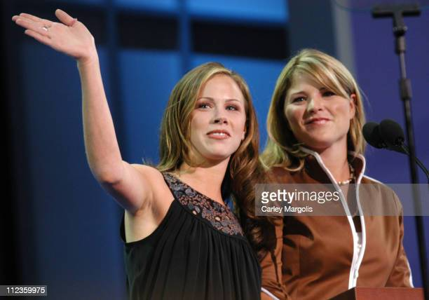 Barbara Bush and Jenna Bush during 2004 Republican National Convention Day 2 Inside at Madison Square Garden in New York City New York United States