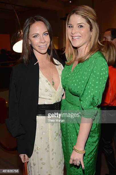 Barbara Bush and Jenna Bush Hager attend the VIP Reception at Jony And Marc's Auction at Sotheby's on November 23 2013 in New York City Photo by Theo...