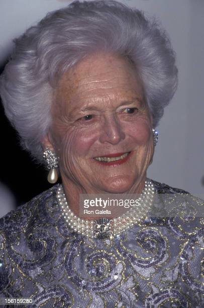 Barbara Bush attends 16th Annual Council of Fashion Designers of America Awards on February 3 1997 at the New York State Theater at Lincoln Center in...