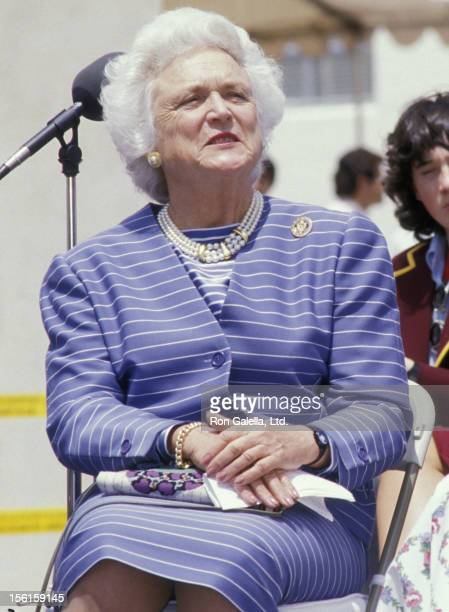 Barbara Bush attends Facts Of Life And Literary Rally on May 5 1988 in Hollywood California