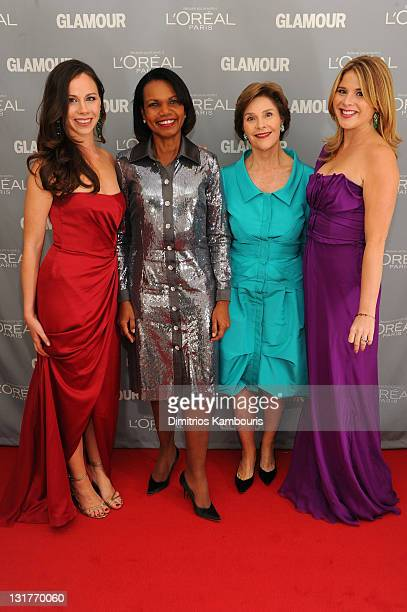 Barbara Bush Condoleezza Rice former first lady of the United States Laura Bush and Jenna Bush Hager attend Glamour's 2011 Women of the Year Awards...