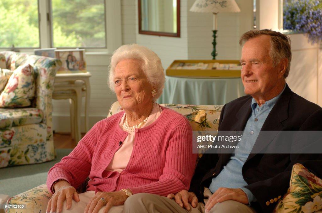 Interview Of Former President George HW Bush, Barbara Bush : News Photo