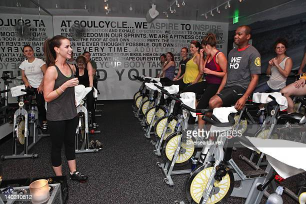 Barbara Bush hosts SoulCycle charity ride to benefit the Global Health Corps on February 29, 2012 in West Hollywood, California.