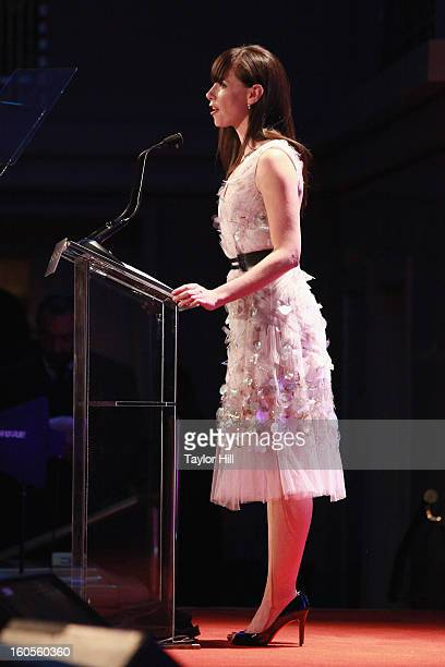 Barbara Bush introduces HRC President Chad Griffin at The 2013 Greater New York Human Rights Campaign Gala at The Waldorf=Astoria on February 2 2013...