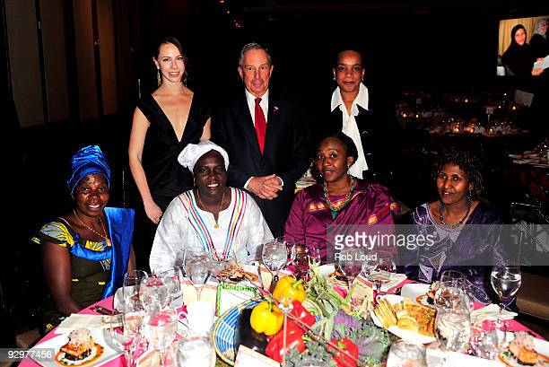 Barbara Bush New York City Mayor Michael Bloomberg Berra Kabarungi of Rwanda Nogozi Eze of Nigeria Karak Kmajk of Sudan and Julienne Kosamira of the...