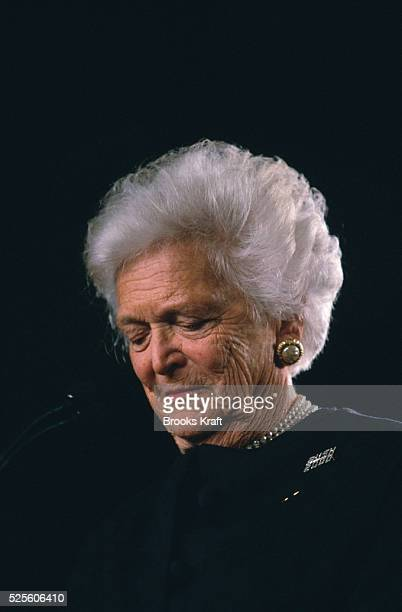 Barbara Bush wife of one President and mother of another She is at a W is For Women rally for her son George W Bush in Milwaukee in 2000