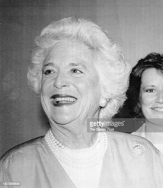 JAN 17 1989 1201989 2161989 1201992 Barbara Bush wife of President elect George Bush smiles in Los Angeles in a 1988 photo from files 1989