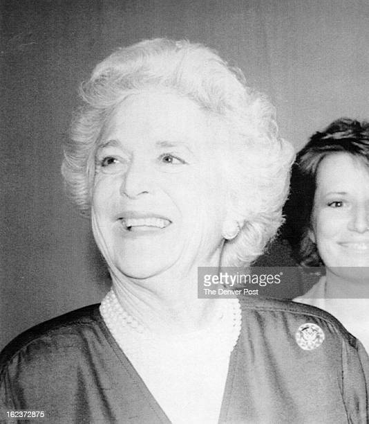 JAN 17 1989 Barbara Bush wife of President elect George Bush smiles in Los Angeles in a 1988 photo from files 1989