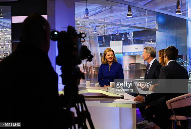 Barbara Byrne vice chairman of investment banking at Barclays Capital left smiles during a Bloomberg Television interview in New York US on Tuesday...