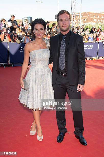 Barbara Cabrita and guest arrive at the 'Snowpierce' Premiere and closing ceremony of the 39th Deauville American Film Festival on September 7 2013...