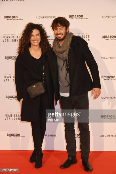 "Barbara Cabrita and her guest attend the Amazon TV Serie ""Jean Claude Van Jonhson"" Paris Premiere At Le Grand Rex on December 12, 2017 in Paris,..."