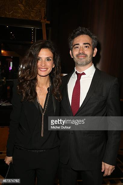 Barbara Cabrita and Sebastien Fechner attend the 'Sauveteurs Sans Frontiere' Charity Party In Paris on March 23 2015 in Paris France