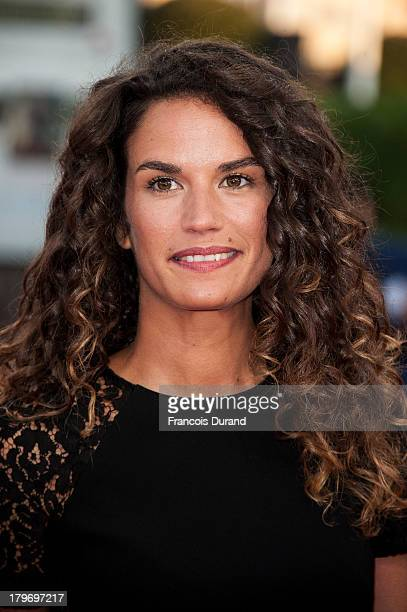 Barbara Cabrita arrives at the premiere of the film 'Killing Season' during the 39th Deauville American Film Festival on September 6, 2013 in...